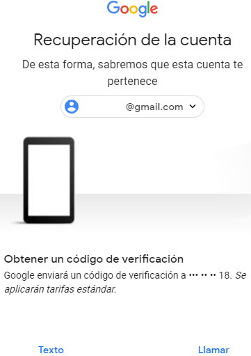 recuperar contraseña de correo gmail