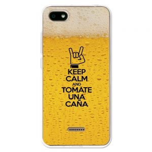 Funda Gel Xiaomi Redmi 6A Keep Calm Caña
