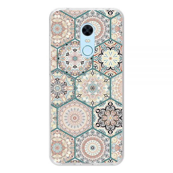 Funda Xiaomi Redmi 5 Plus German Tech Art Fit-Mosaico de rosetones