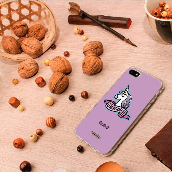 Funda Xiaomi Redmi 6A - Unicornio Tatuaje Rosa