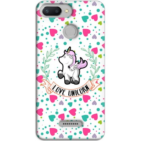 Funda Xiaomi Redmi 6 GelTPU Unicorn Love